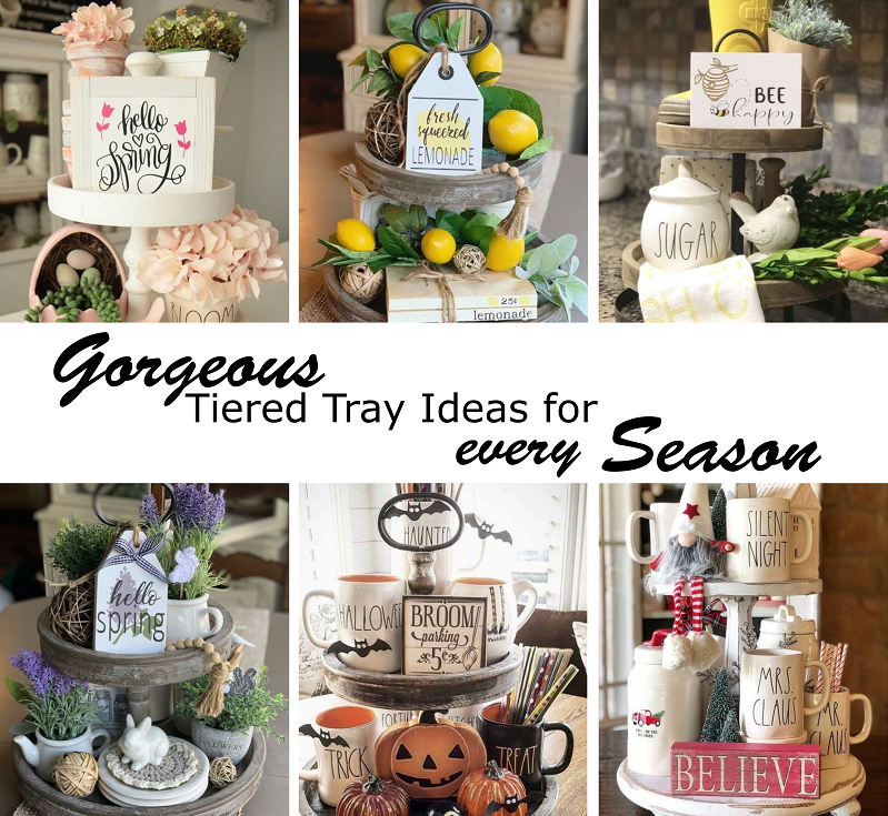 I love switching out my coffee table decor for each season. You don't want to miss this seasonal inspiration! Check out our favorite handmade shops to purchase decor for your tiered tray.