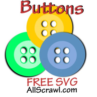 Finished Button Embellishments with SVG Project