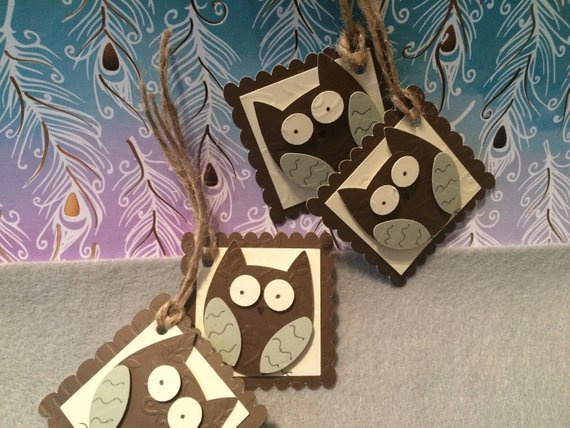 This project is fun and simple. The Cricut project cuts enough pieces to make 24 owl gift tags or embellishments. These are perfect to embellish gifts for the fall season.