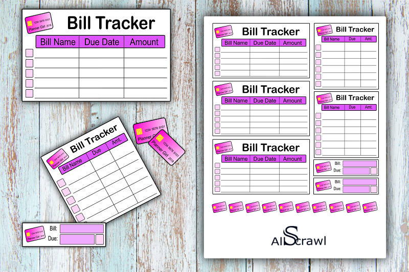 image about Free Printable Bill Tracker named Absolutely free Printable: Monthly bill Tracker -