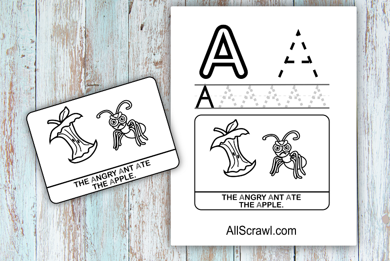 Letter A Coloring Page Free Download Preview