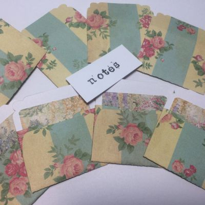 Finished Set of 8 Miniature Note Embellishments Project