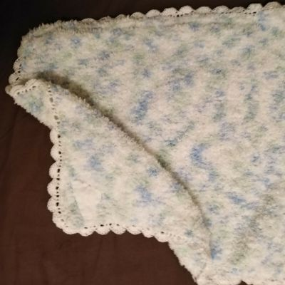 Finished Clouds Baby Comfort Blanket Project