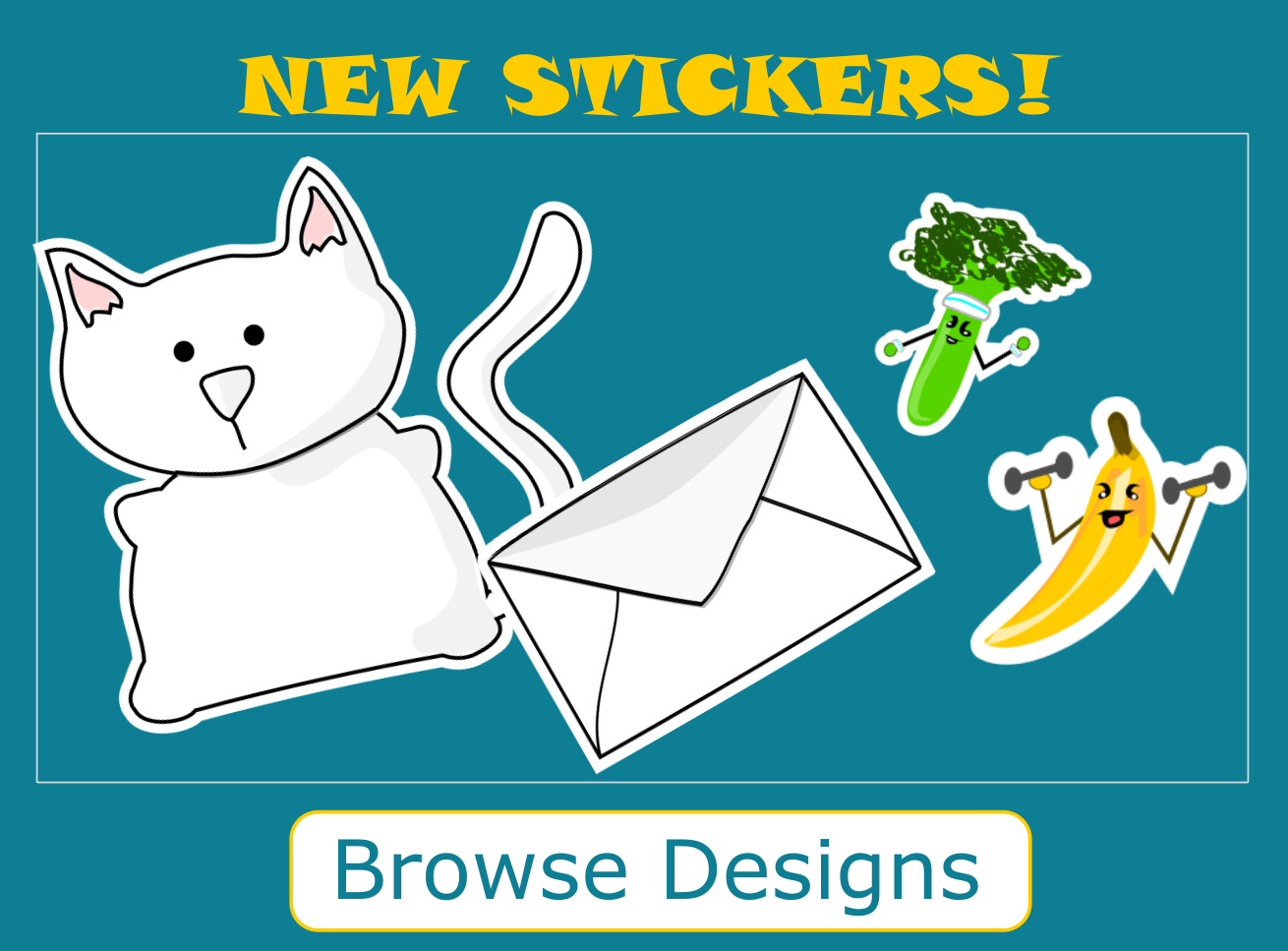 Picture of new hand drawn stickers